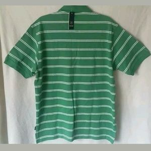 IZOD Shirts - T-Shirt Size Medium IZOD Green White Striped